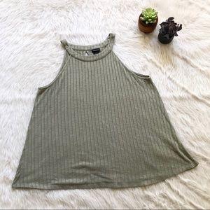 Torrid Green Knit Ribbed Tank